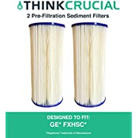 2 Replacements for GE FXHSC Whole House Pre-Filtration Sediment Filter, Also Fits Culligan R50-BBSA, Pentek R50-BB & DuPont WFHDC3001, by Think Crucial