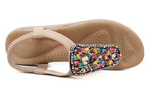 T Strap Sandals DADAWEN apricot Summer Women's WABEnv