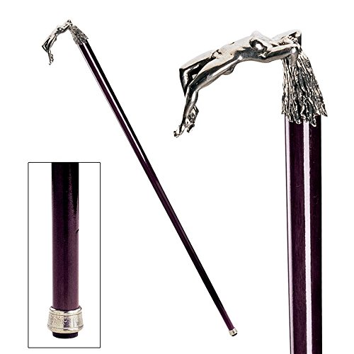 Design Toscano Ecstasy Pewter Walking Stick by Design Toscano