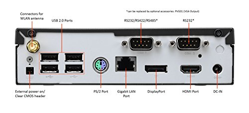 Shuttle XPC Slim DX30, Intel Apollolake Celeron J3355, Gigabit LAN, Dual COM Port, Fanless Design, DDR3L SODIMM Max 16GB by Shuttle (Image #3)'