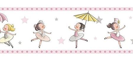 Adhesive border camerette Girls Paper Washable Ballerina ...