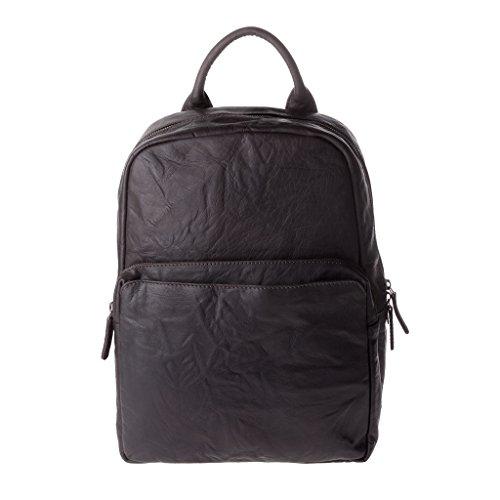 DuDu 602-1326-02 - Bolso al hombro de Cuero para hombre Marrón marrón compact