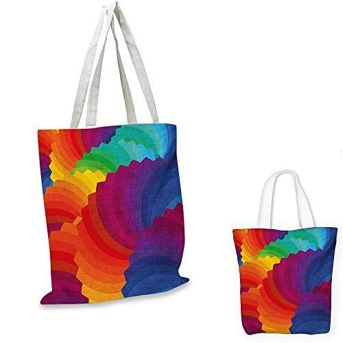 Colorful non woven shopping bag Modern Gradient Dash Sea Shell Inspired Wavy Dimension Palette Stripes Artisan fruit shopping bag Multicolor. - Dash Bag Diaper Messenger