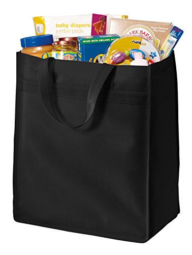 Port & Company Grocery Tote - Port & Company luggage-and-bags Standard Polypropylene Grocery Tote OSFA Black