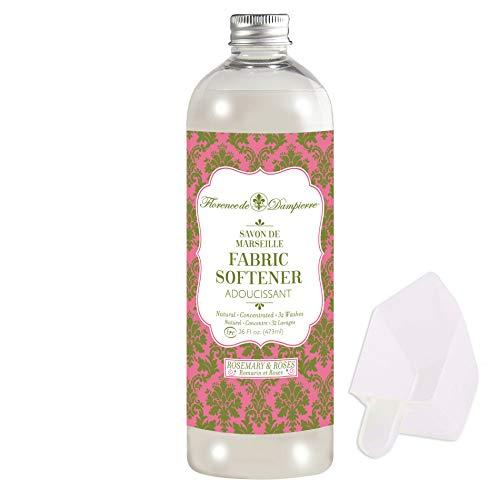 Florence de Dampierre Organic All-Natural Savon de Marseille Soap, Concentrated Liquid Fabric Softener, 16 oz. - Rosemary