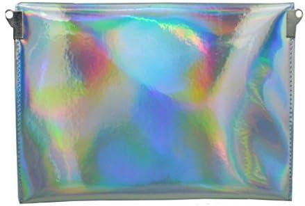 AISI pour femme holographique Cuir PU enveloppe dembrayage Sac /à main Sac /à main