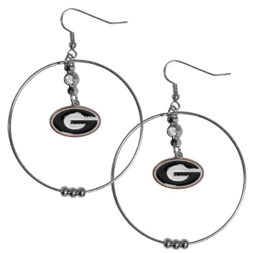 Georgia Bulldogs Hoop - NCAA Georgia Bulldogs Hoop Earrings, 2-Inch
