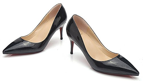 Femme Aisun Kitten Pointu Heel Bout Mode Escarpins Printemps Noir CrnCx0W