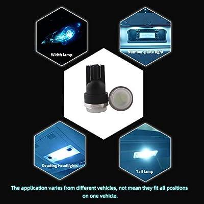 Grandview 10pcs 80 Lumens T10 194 192 175 168 2825 W5W 5630 2SMD Car LED Side Marker Center High Mount Stop Light Bulb Door Courtesy Light Bulbs Ice Blue: Automotive