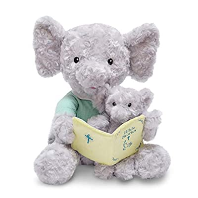Cuddle Barn Animated Plush 12 Elephant - Pray with Me Pals - Bible Story Time (Bible Time Hannah & Child): Toys & Games