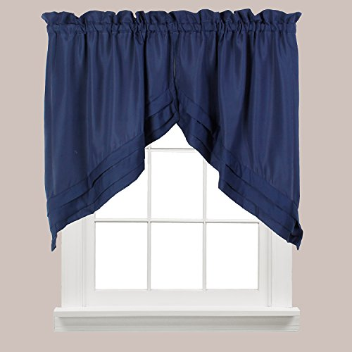 Swags Treatments Window (Holden Window Treatment Swag 57-Inch by 30-Inch, Navy, Set of 2)