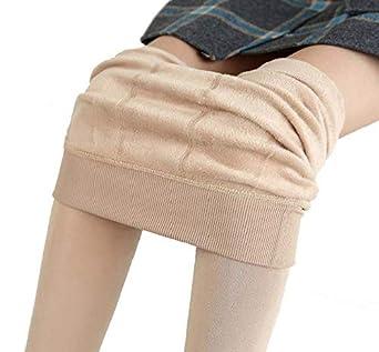 Yuson Girl Leggings donna termico Leggings Caldi e Morbidi, legging a tutta lunghezza Collant elasticizzato gambali, leggings allenamento per le donne palestra Leggins per le donne leggings allenamento per le donne palestra Leggins per le donne (Beige)
