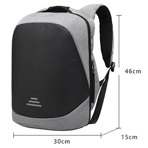 MWHJP Camping 15 6 Zoll USB-Computer Tasche Anti-Diebstahl-Rucksack Business Wasserdichte Umhängetasche Tägliche Tasche,Green Green