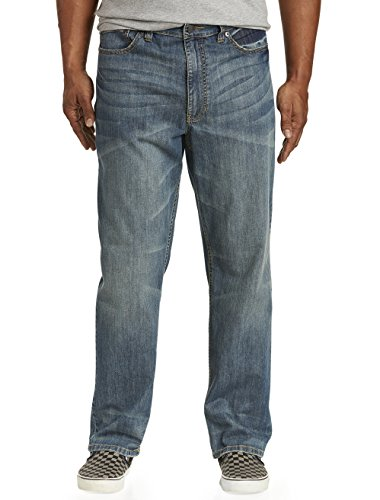 True Nation by DXL Big and Tall Relaxed-Fit Stretch Jeans,