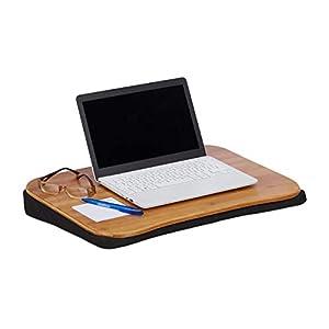 Relaxdays 10021548 Coussin Ordinateur Portable Bambou Support Amovible Poignée L x P: 51 x 37 cm (jusqu'à 22 pouces…