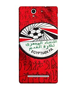 ColorKing Football Egypt 11 Red shell case cover for Sony Xperia C3