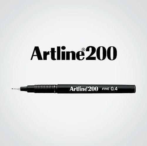 Artline Black Fineliner Pens, Fine point Tip 0.4mm Line Black Pen Ref A2001 [Pack of 12] by artline (Image #3)