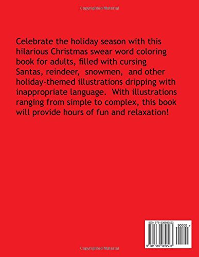 Festive As Fuck A Hilarious Christmas Swear Word Coloring Book Adult Cindy Booth 9781539989523 Amazon Books