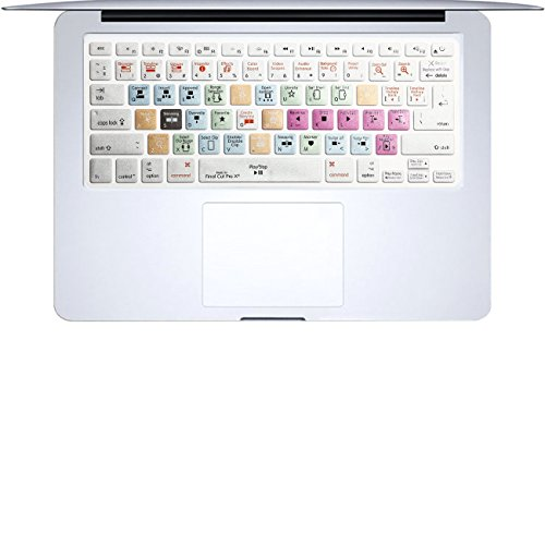 Masino Shortcuts Silicone Keyboard Series Cover Ultra Thin Keyboard Skin for MacBook Air 13