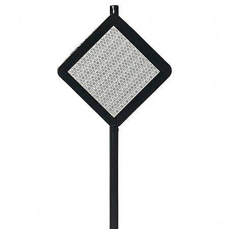 48''H Steel Driveway Marker, Black, 1 EA
