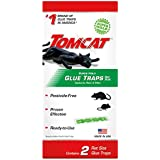 Tomcat Super Hold Glue Traps Rat Size - 2 Traps | Captures Rats & Mice | Also Used for Cockroaches, Scorpions, Spiders & Most Other Pests