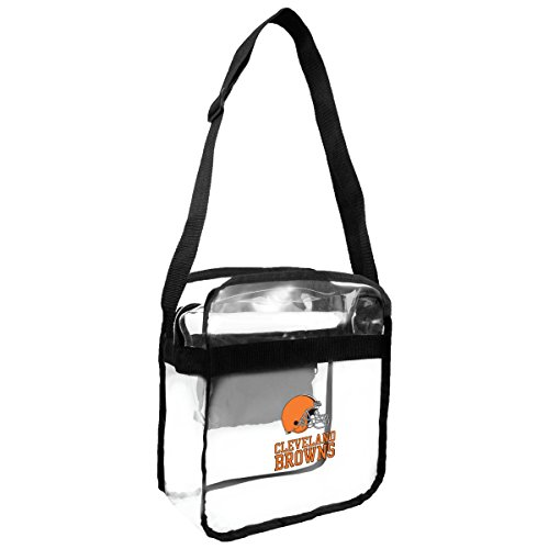 NFL Cleveland Browns Clear Carryall Crossbody Purse