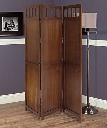 (Nova Natural Wood Screen Room Divider with 3 Panels,Portable Wooden Room Screen Divider, Folding Partition Separator,Folding Wooden Portable Screen Divider for Home,Office,Restaurants,Hotels)