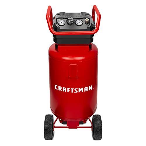 CRAFTSMAN Air Compressor, 20 Gallon, 1.8 HP, Oil-Free Air Tools, Max 175 PSI Pressure, 2 Quick Coupler, Long Lifecycle…