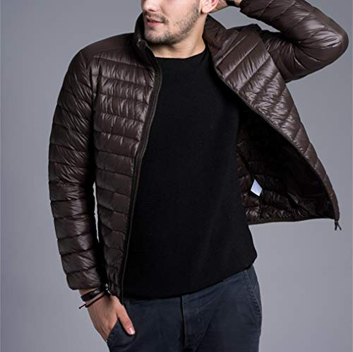 Fit Jacket zhbotaolang Light Slim Men Brown Ultra Winter Short Fashion Warm Coat Zwagq