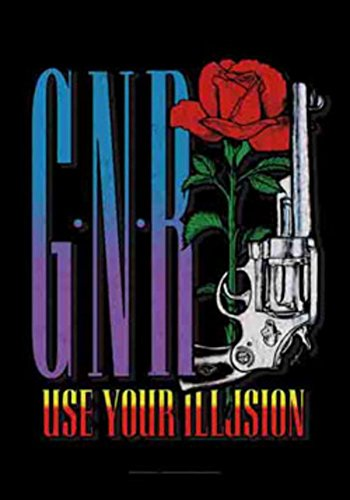 N Roses Guns Banner (Bioworld Guns N' Roses Use Your Illusion Large Fabric Poster 44