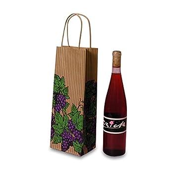 Amazon.com: Uvas Vino bolsas de vino de papel | Cantidad ...