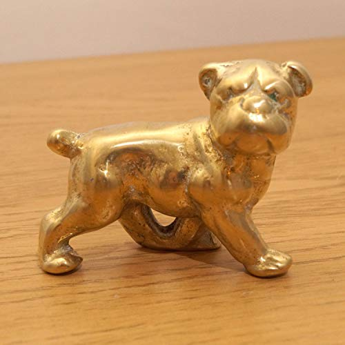 Bulldog - Solid Brass Dog Sculpture || Vintage Statue || Metal Alloy Figurine || Miniature Statuette || French Bulldog (Bulldog Metal Sculpture)