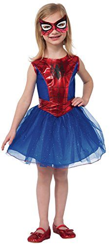 Spiderman Dress For Kid (Rubie's Marvel Universe Classic Collection Spider-Girl Costume, Child Small)