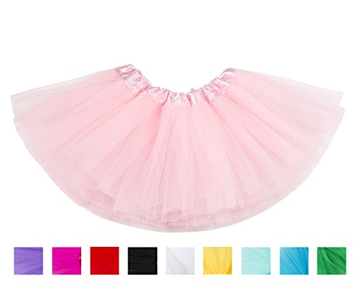 belababy Baby Girl Tutu Pink 5 Layers Dress Up Skirt, 0-24 Months, Pink