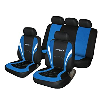 Cosmos 1 Blue And Black Sports Style Car Seat Covers