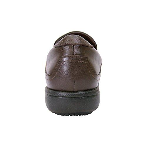Peerage Fic Therese Dames Verstelbare Comfortabele Lederen Instapper Voor Dagelijks Gebruik (maattabellen) Bruin