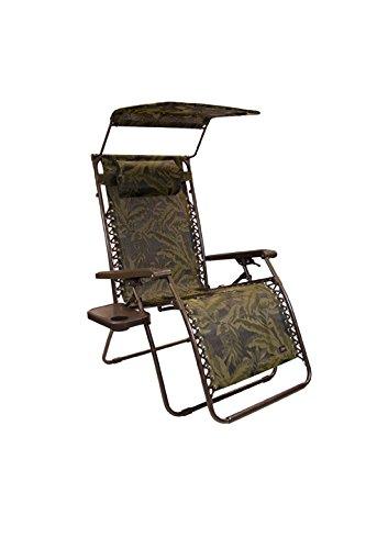 bliss hammocks wide gravity free lounger with pillow canopy  u0026 side tray fern jacquard amazon     bliss hammocks wide gravity free lounger with pillow      rh   amazon
