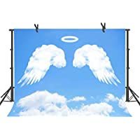 FUERMOR 7x5ft White Angel Wings Photography Backdrop Studio Photo Props GEFU220