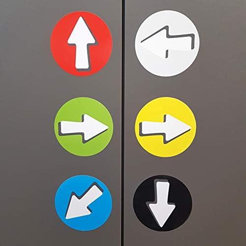 percorsi frecciati indicazioni giallo Frecce adesive di segnalazione e di orientamento per interni ed esterni 20 frecce Direzioni