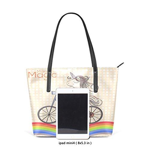 Bag Coosun Tote Muticolour Borsa Cavalcando Le In Unicorno Donne Pelle Arcobaleno Significa Per E Borse Pu trBwIxrSq