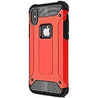 Gpack Apple İphone X Kılıf Crash Zırh Arka Koruma Kırmızı