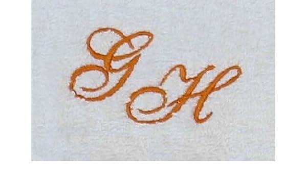 Toalla 100 x 150 cm New York Color Blanco con iniciales), Stick Color bordado/bordado con sus iniciales), Stick Color Naranja 0904: Amazon.es: Deportes y ...