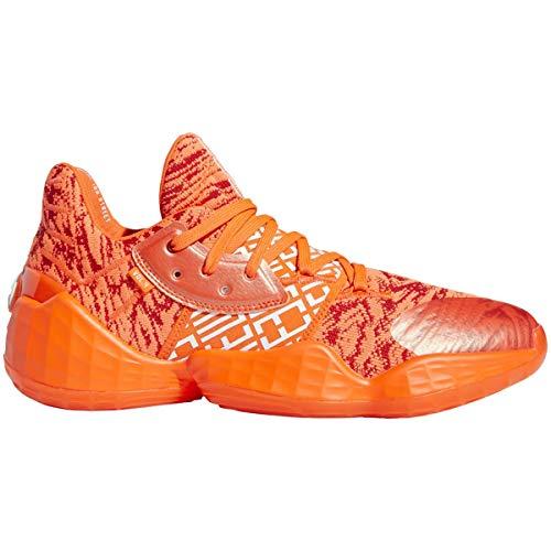 adidas Harden Vol. 4 Shoe - Men's Basketball Scarlet/White/Solar Orange