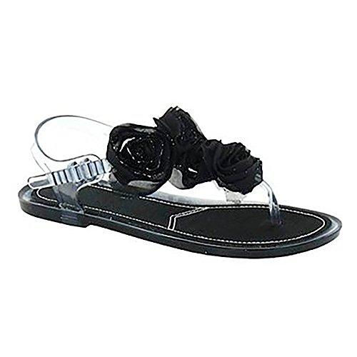 SPOT ON Zehensteg-Sandalette CHINESE ROSES black Black