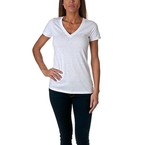 Next Level Apparel Women's Soft Deep V-Neck T-Shirt, Classic Heather White, XX-Large