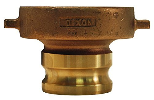 Dixon 300-TCA-SS Stainless Steel 316 Cam and Groove Hose Fitting, Tank Car Adapter, 5'' Railroad Thread x 3'' Plug