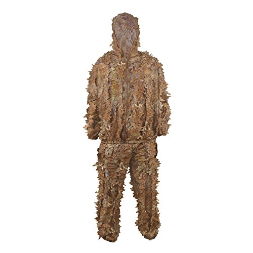Hunting Blinds, LOOGU Outdoor Camouflage Ghillie Poncho Camo Suit Military Leaf Hunting and Shooting Accessories Tactical Gear Clothing for Airsoft, Wildlife Photography Halloween or Christmas