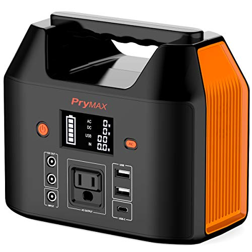 PRYMAX Portable Power Station, 178Wh Solar Generator CPAP Backup Battery Pack with LED Flashlight,110V 150W Peak 200W Pure Sine Wave,AC Outlet, QC3.0 USB,for Outdoors Camping Travel Emergency