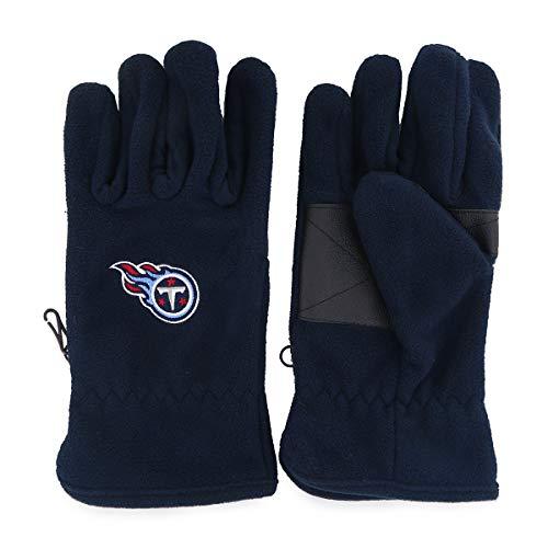 (OTS NFL Tennessee Titans Male Fleece Gloves, Navy, Men's)