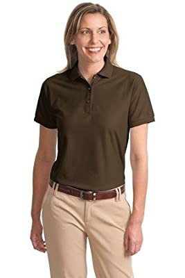 Port Authority Women's Classic Polo Sports Shirt, coffee bean, Large